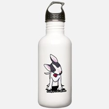 Masked Bull Terrier II Water Bottle