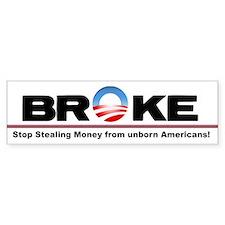 Deficit bumprt sticker