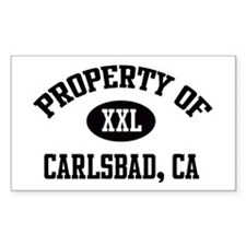 Property of Carlsbad Rectangle Decal