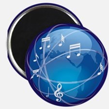 """Mixed Musical Notes (world) 2.25"""" Magnet (100 pack"""