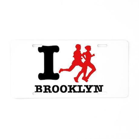 I run brooklyn Aluminum License Plate