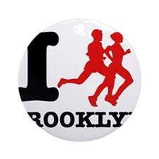 I run brooklyn Ornament (Round)