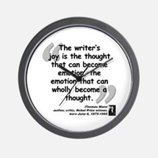 Mann Emotion Quote Wall Clock