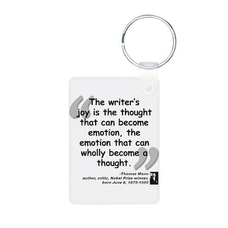 Mann Emotion Quote Aluminum Photo Keychain