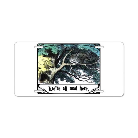 Cheshire Cat Aluminum License Plate