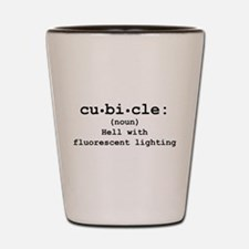 Cubicle Hell Shot Glass