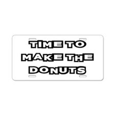 Make The Donuts Aluminum License Plate