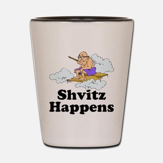 Shvitz Happens Shot Glass