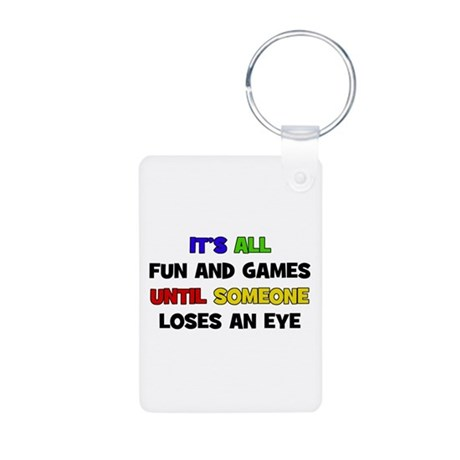 Fun & Games - Eye Aluminum Photo Keychain