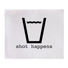 Shot Happens Throw Blanket