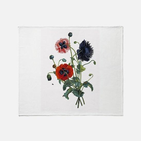 Poppy Art Throw Blanket