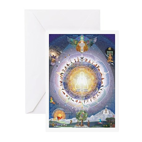 One Earth Community poster Greeting Cards (Pk of 1