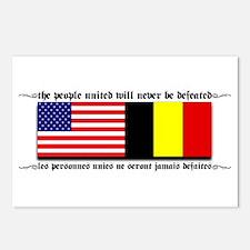 USA - Belgium unite! Postcards (Package of 8)