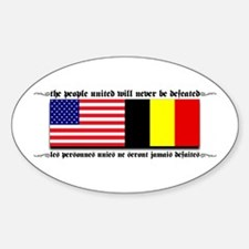 USA - Belgium unite! Oval Decal
