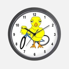 Biker Chick Wall Clock