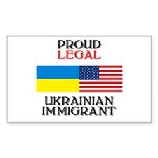Ukrainian Immigrant Rectangle Decal