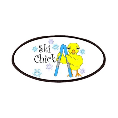 Ski Chick Text Patches