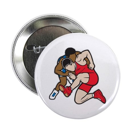 """Two Wrestlers 2.25"""" Button"""