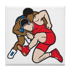 Two Wrestlers Tile Coaster