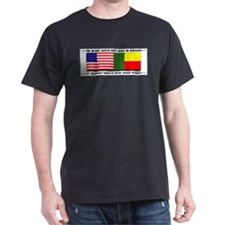USA - Benin Unite! Black T-Shirt