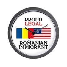 Romanian Immigrant Wall Clock