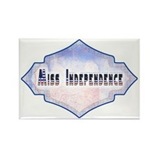 Miss Independence Rectangle Magnet