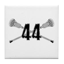 Lacrosse Number 44 Tile Coaster
