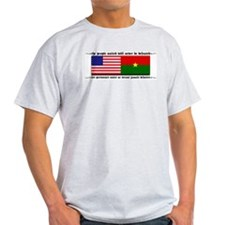 USA - Burkina Faso unite! Ash Grey T-Shirt