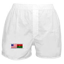 USA - Burkina Faso unite! Boxer Shorts