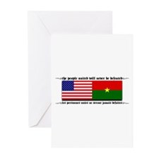 USA - Burkina Faso unite! Greeting Cards (Package