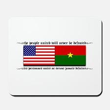 USA - Burkina Faso unite! Mousepad