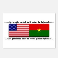 USA - Burkina Faso unite! Postcards (Package of 8)