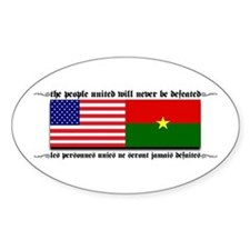 USA - Burkina Faso unite! Oval Decal