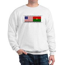 USA - Burkina Faso unite! Sweatshirt