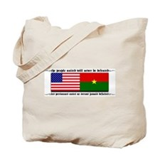 USA - Burkina Faso unite! Tote Bag