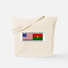 USA - Burkina Faso unite! Tote Bag
