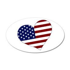 American Heart 22x14 Oval Wall Peel