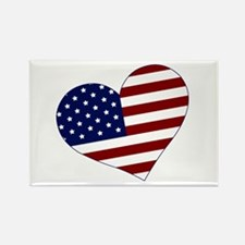 American Heart Rectangle Magnet (100 pack)