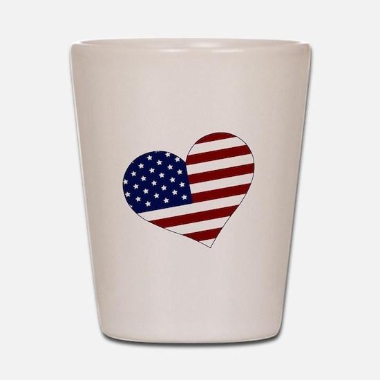 American Heart Shot Glass