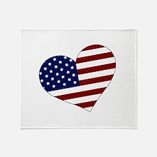 American Heart Throw Blanket