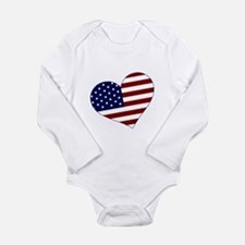American Heart Long Sleeve Infant Bodysuit