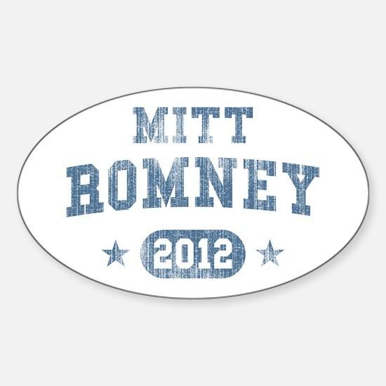 'Vintage' Mitt Romney Sticker (Oval)