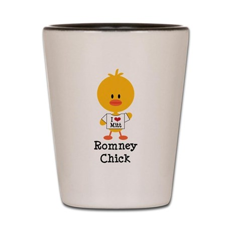 Mitt Romney Chick Shot Glass
