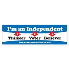 Independent Thinker/Voter/Believer bumper sticker