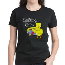 Quilting Chick Text Tee