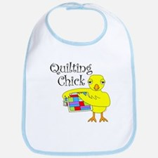 Quilting Chick Text Bib