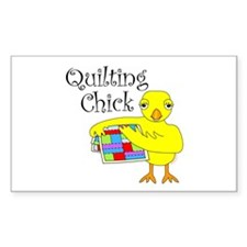 Quilting Chick Text Decal