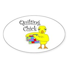 Quilting Chick Text Stickers