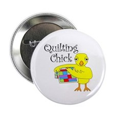 "Quilting Chick Text 2.25"" Button (10 pack)"