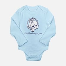 Cute Footprint Long Sleeve Infant Bodysuit
